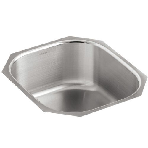 Kohler Icerock Stainless Steel Under-Mount Kitchen Bowl - 3336-NA